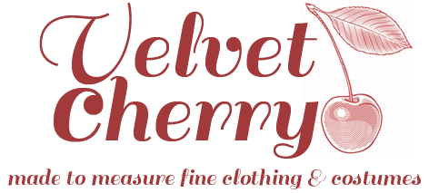 Logo Velvet Cherry – fine clothing and costumes made to measure in Wellington, NZ
